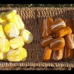 Savon feutré Miel (jaune) Douceur d'hiver (orange)